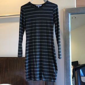 Cupcakes and cashmere gray stripe dress
